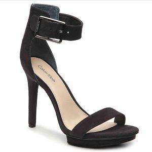 Calvin Klein Vivian Suede Heels in Black